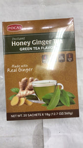 Pocas Instant Honey Ginger Tea Green Tea Flavor - 360gm - Daily Fresh Grocery