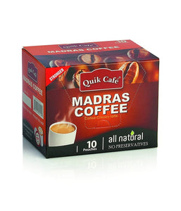 Quik Tea Instant Madras Coffee 10 pack 8.5 oz / 240 gram - Daily Fresh Grocery