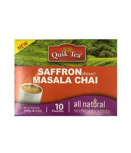 Quik Tea Saffron (Kesar) Masala Chai - 240 Gm - Daily Fresh Grocery