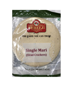Shreeji Single Mari (Urad Crackers) - 200 Gm - Daily Fresh Grocery