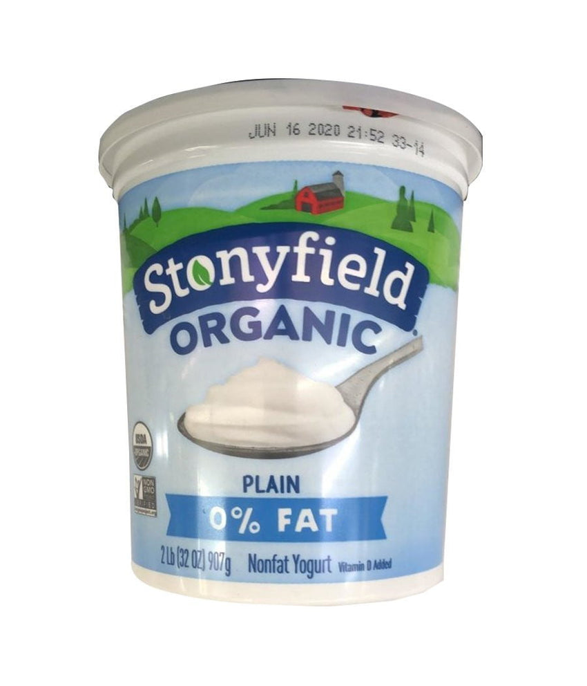 Stonyfield Organic Plain 0% Fat - 907 Gm - Daily Fresh Grocery