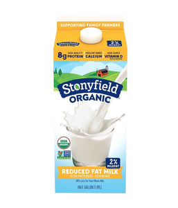 Stonyfield Organic Protein 2% Reduced Fat Milk - 1.89 Ltr - Daily Fresh Grocery