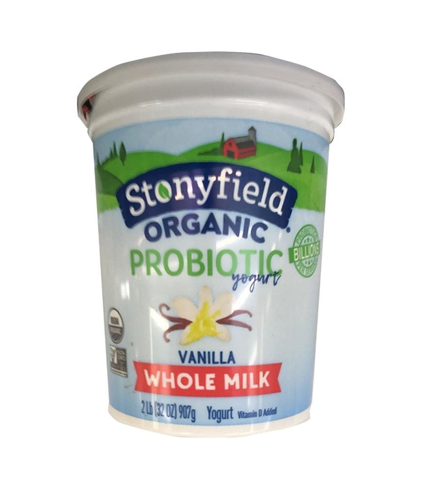 Stonyfield Organic Vanilla Whole Milk Yogurt - 907 Gm - Daily Fresh Grocery