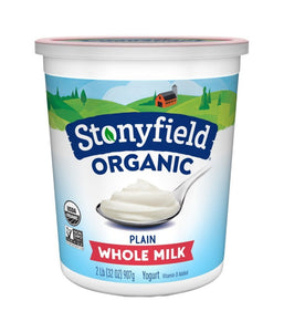 Stonyfield Organic Whole Milk Plain Yogurt 32 oz / 907 gram - Daily Fresh Grocery