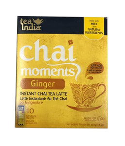 Tea India Chai Moments Ginger  Instant Chai Tea Latte - 224 Gm - Daily Fresh Grocery