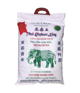 Thai Elephant King Thai Jasmine Rice - 20 lbs - Daily Fresh Grocery