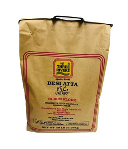 THREE RIVERS - Desi Atta - 20 Lbs - Daily Fresh Grocery