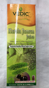 Vedic Juices Karela Jamun Juice (Bitter Gourd & Indian Blackberry) - 1 Ltr. - Daily Fresh Grocery