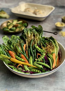 Charred Lettuce Autumn Salad with Fish