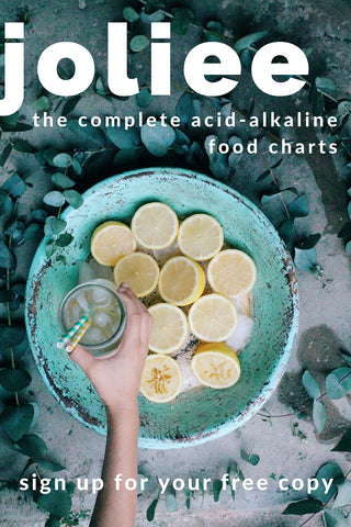 Acid-alkaline food charts
