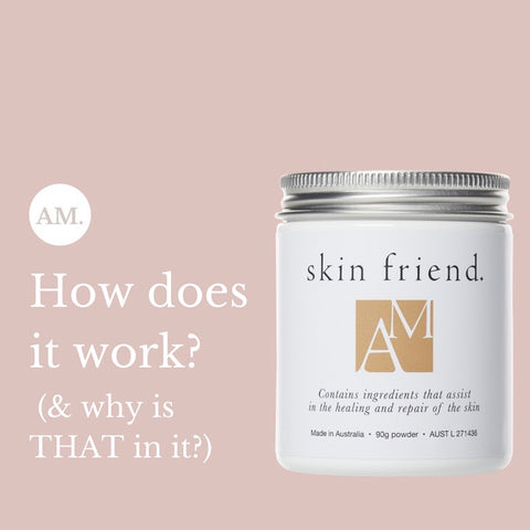 Skin Friend AM ingredients for eczema