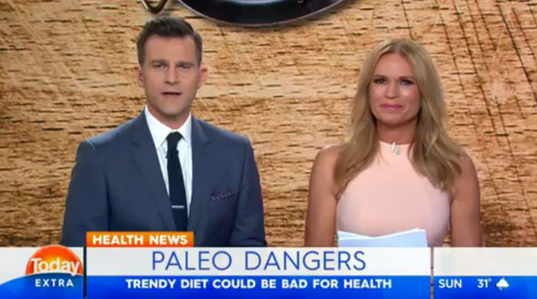 David and Sonia from Today Extra, Paleo Breaking News