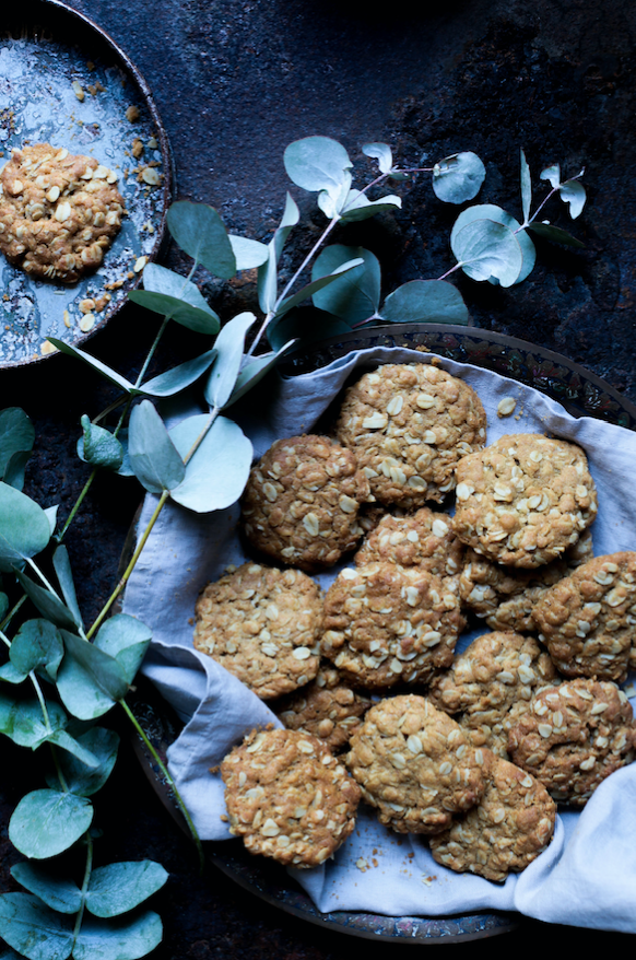 Vegan Anzac Biscuits Cookies Recipe
