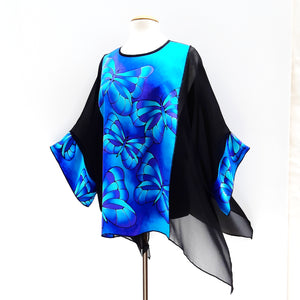 plus size top painted silk