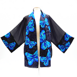 Load image into Gallery viewer, painted silk kimono made in Canada
