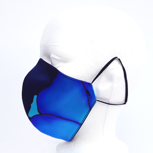 blue silk mask