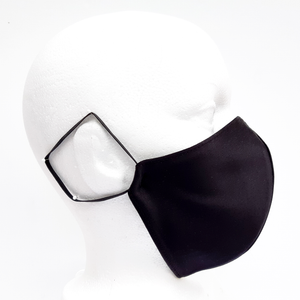 adult black 3 ply mask
