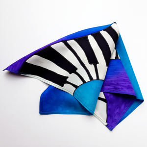 painted silk pocket square for men