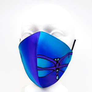 blue silk face mask