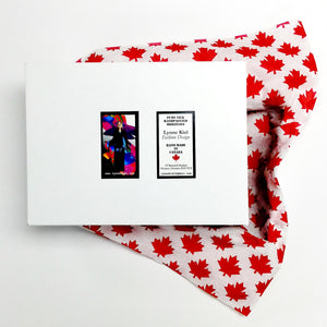 gift box with Canada red maple leaf tissue paper
