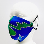 Load image into Gallery viewer, satin face mask blue