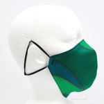 Load image into Gallery viewer, adult green 3 ply silk mask