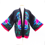 Load image into Gallery viewer, painted silk kimono jacket