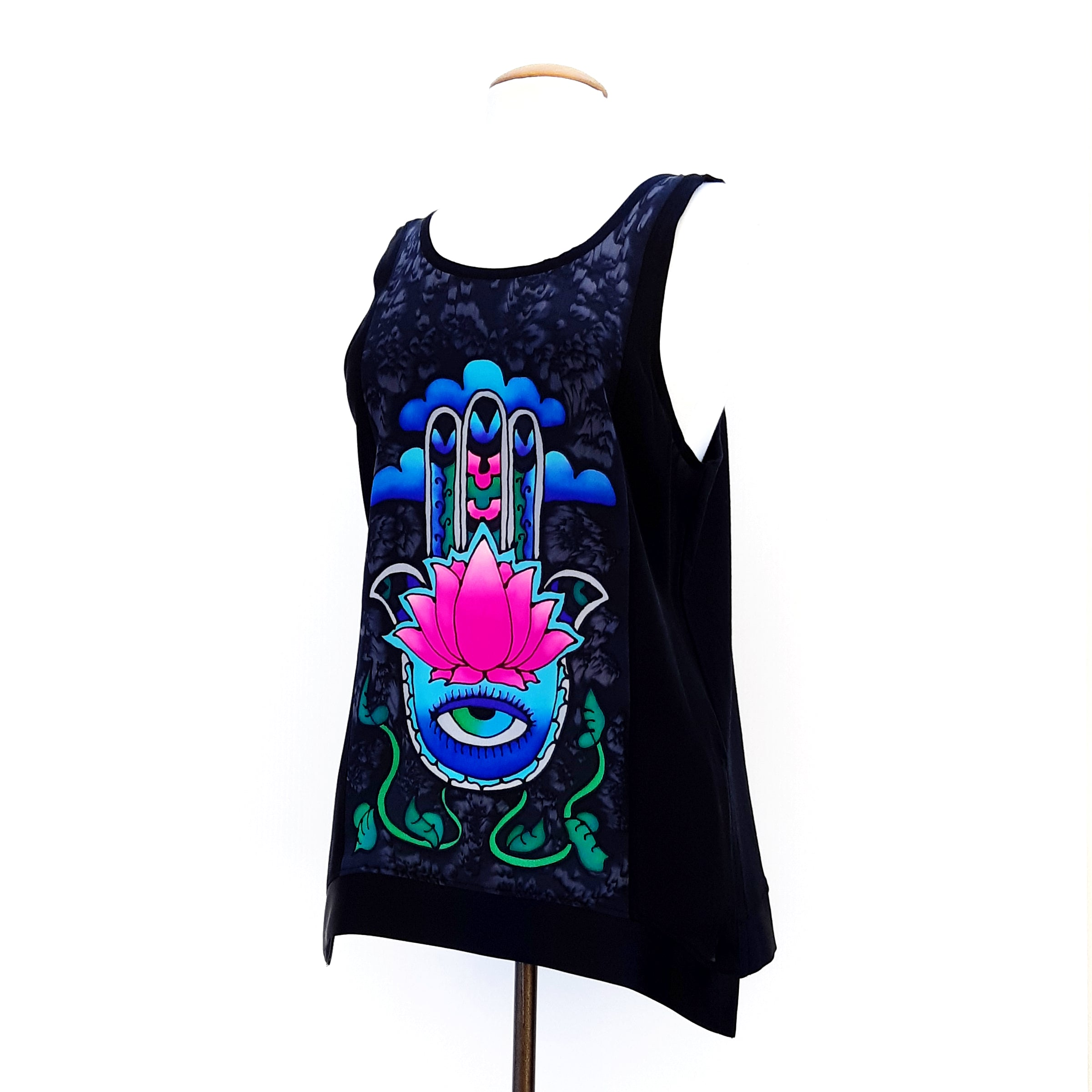 painted silk ladies tank top