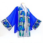 Load image into Gallery viewer, painted silk blue kimono