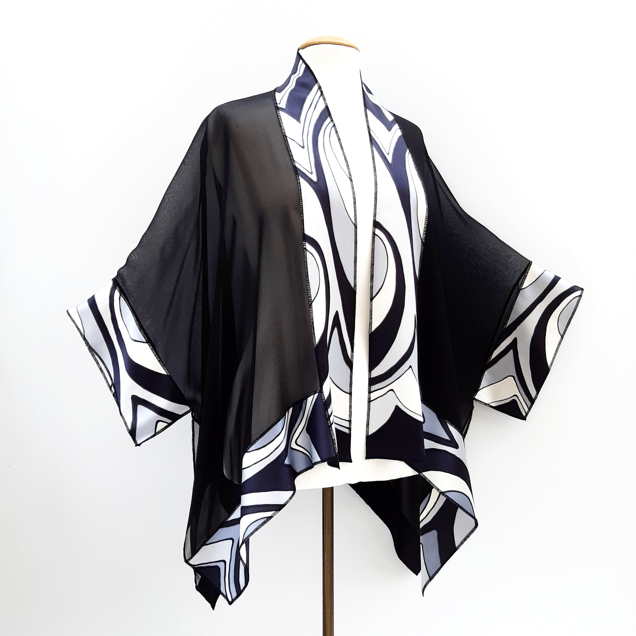 painted silk shawl