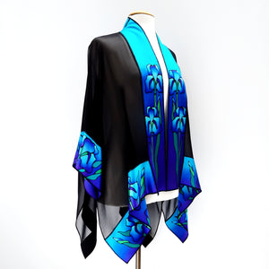 painted silk shawl ones size