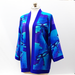 Load image into Gallery viewer, long blue kimono jacket