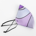 Load image into Gallery viewer, 3 ply satin mask purple