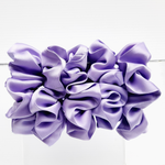 Load image into Gallery viewer, large satin silk scrunchie for exercise and sleeping  made in Canada