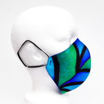 Load image into Gallery viewer, peacock feather design facemask