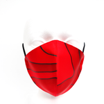 Load image into Gallery viewer, red silk facemask made by Lynne Kiel