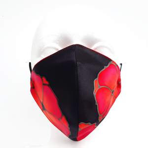 red poppy design facemask
