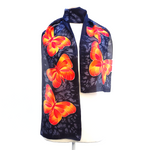 Load image into Gallery viewer, design silk scarves hand painted made in Canada