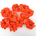 Load image into Gallery viewer, LOLIPOP ORANGE Jumbo Scrunchie Pure Silk Smooth Soft Shimmering Satin