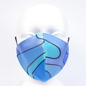 painted silk mask blue