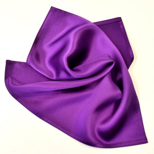 Silk pocket square purple