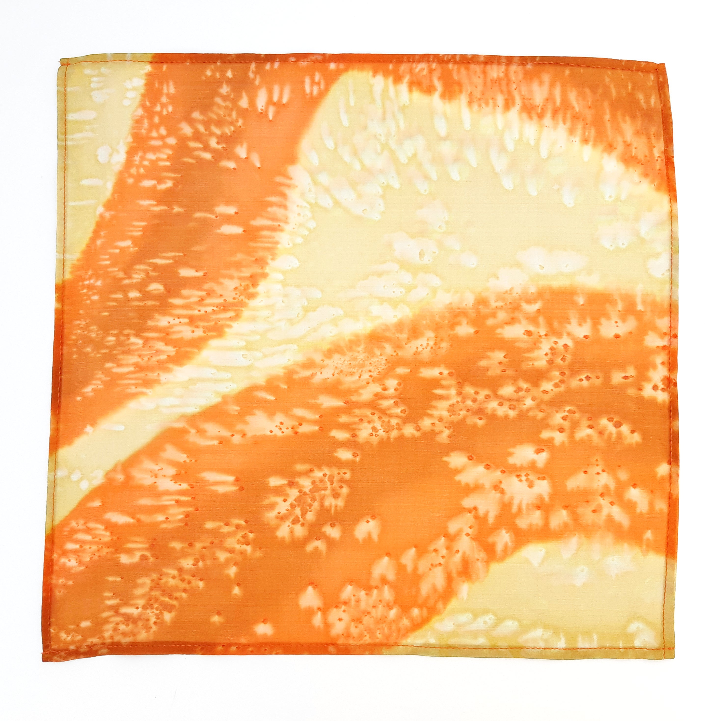 painted silk orange beige pocket scarf