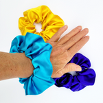 Load image into Gallery viewer, pure silk scrunchies for hair handmade by Lynne Kiel