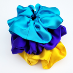 Load image into Gallery viewer, hair scrunchies for exercise and yoga handmade by Lynne Kiel
