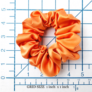large and small satin hair scrunchie for bridesmaid gift  women