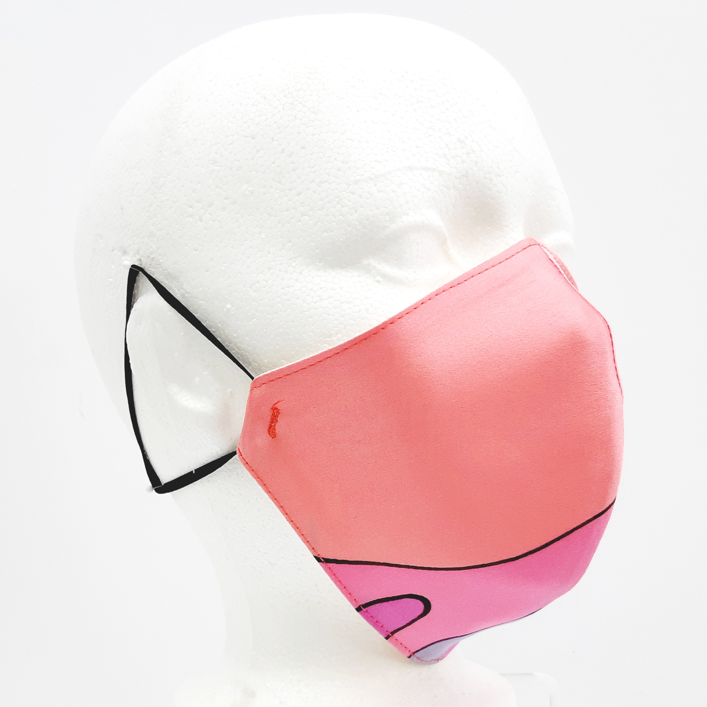satin face mask PINK