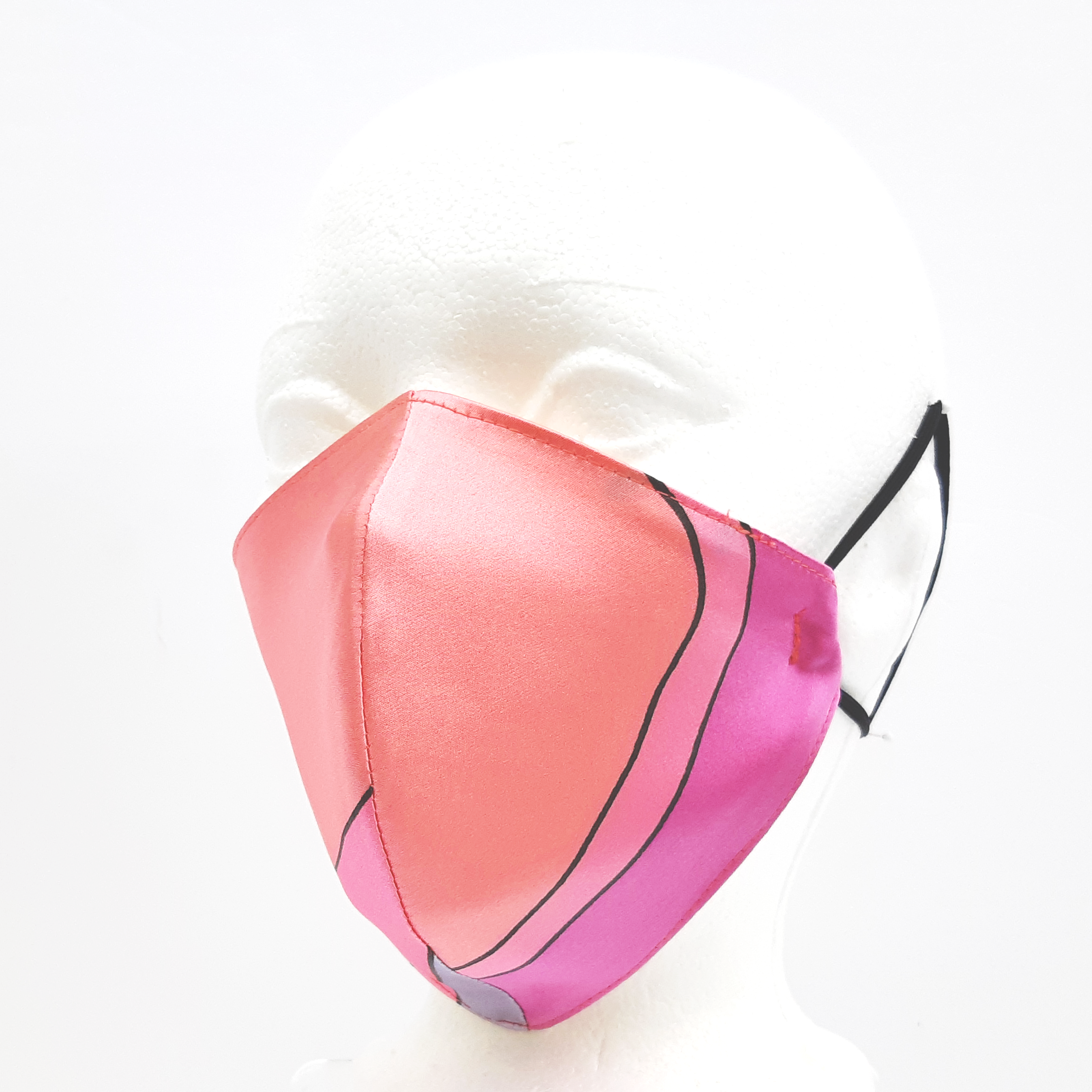 adult pink 3ply mask