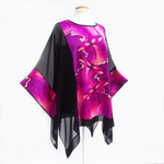 Load image into Gallery viewer, painted silk ladies caftan plus size one of a kind design fashion handmade by Lynne Kiel