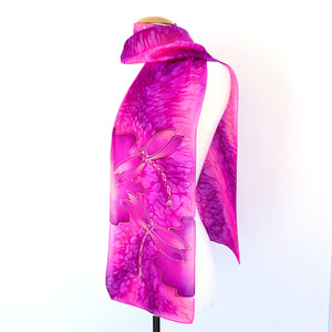 silk scarf for women pink scarves painted silk