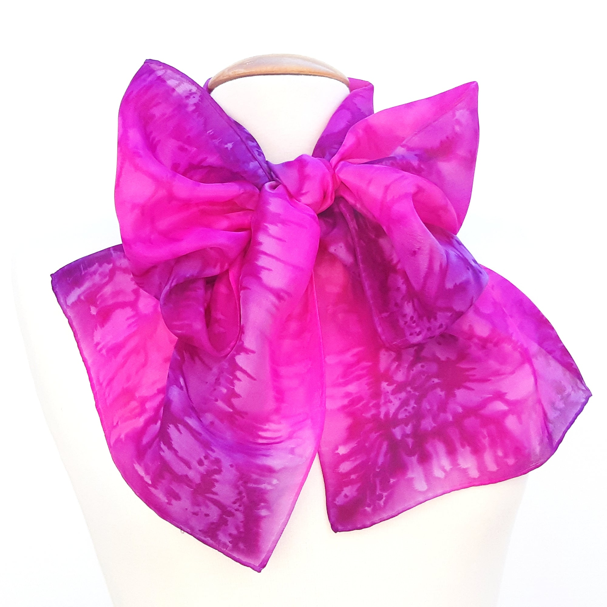 Pink scarves painted silk